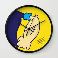 popeye Wall Clocks featuring I Can Do All Things  by ShannonHatchNZ