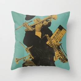 ABSTRACT JAZZ Throw Pillow