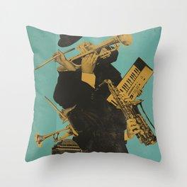 ABSTRACT JAZZ Throw Pillow