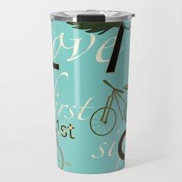 Love at First Sight and Bicycle Travel Mug