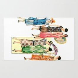 Vintage Flapper Fashion Dress Patterns Rug