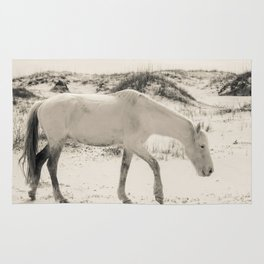 Wild Horses 3 - Black and White Rug