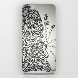 Buddha Blossoms Ink Doodle iPhone Skin