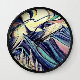 Golden Evenings : Baldface Wall Clock