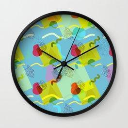 Neo Memphis Fun - Blue Wall Clock