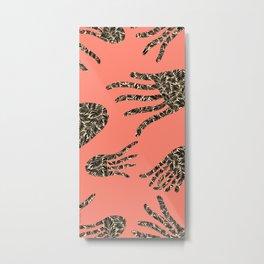 Pink Jellyfish Motif Digital Pattern, by Eau de Papier Illustration Studio And Design Metal Print