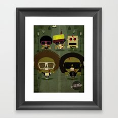 Party zombie rock Framed Art Print