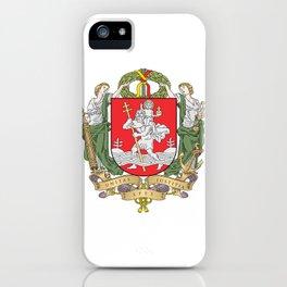 flag of vilnius iPhone Case