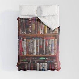 Stephen King Books on Shelves Comforters