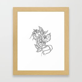 Deadly Nightshade Botanical Illustration Framed Art Print
