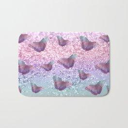 Pastel Unicorn Butterfly Glitter Dream #1 #shiny #decor #art #society6 Bath Mat