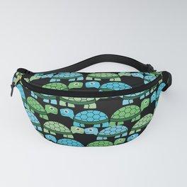 Turtle Pattern (Black/Blue/Green) Fanny Pack