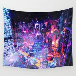 Cyberpunk City Wall Tapestry