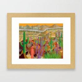 Desert City Phoenix Framed Art Print