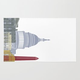 Washington DC skyline poster Rug