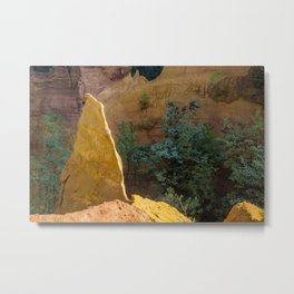 Ochre in Roussillon, France Metal Print