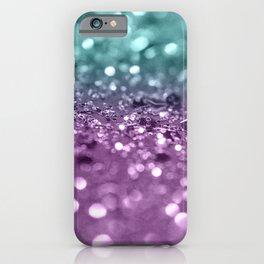 Aqua Purple MERMAID Girls Glitter #2 #shiny #decor #art #society6 iPhone Case