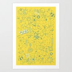 Super Mega Turbo Doodle Power Art Print