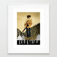 bob dylan Framed Art Prints featuring Bob Dylan by Patrick Latimer