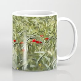 Cornfield Poppy Landscape Coffee Mug