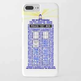 Doctor Who TARDIS Words of Wisdom iPhone Case