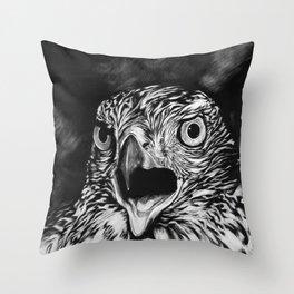 Fierce Falcon Throw Pillow