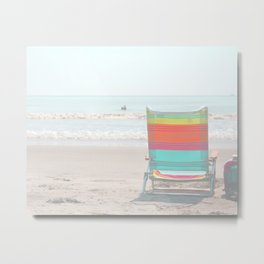 Summer Lite Chair Metal Print