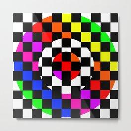 Triggle | Colorful Secret Geomoetry | Play Metal Print
