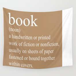 Book Definition (White on Tan) Wall Tapestry