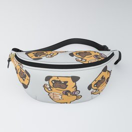 Bread Roll Pug Abs Fanny Pack