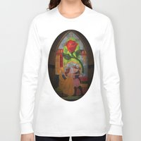 beauty and the beast Long Sleeve T-shirts featuring Beauty and the Beast by Jillian Stanton