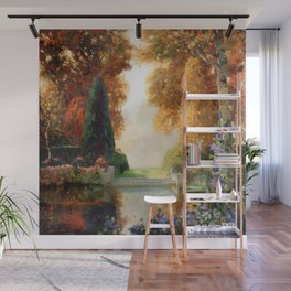 Silver and Gold - Luxuriant Autumn Garden by Thomas Mostyn Wall Mural