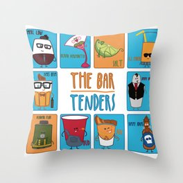 The Bar Tenders Licensing Poster Throw Pillow