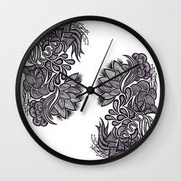 Flowers, Feathers & Flicks ! Wall Clock