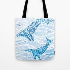 Two Whales Tote Bag
