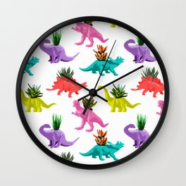 Dinosaur Planters Wall Clock