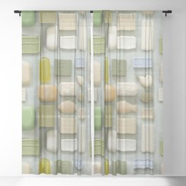 Soap Collection Spa Wellness Photography Sheer Curtain