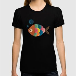 Colorful Fish Underwater Single Swimmer T-shirt