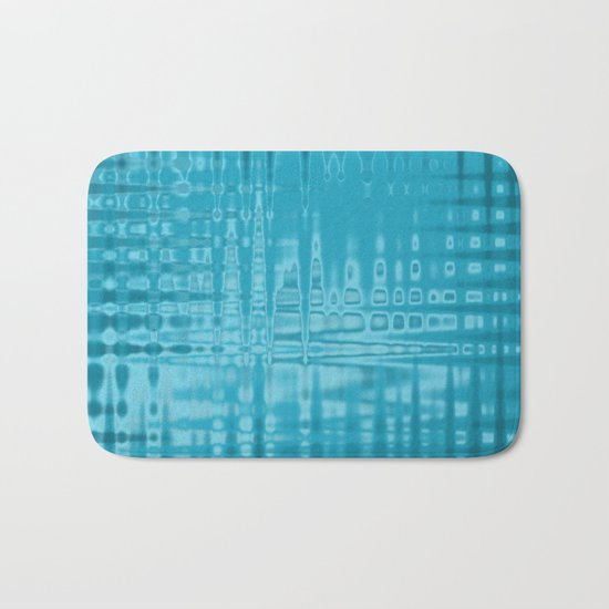 ABSTRACT MADNESS IN BLUE Bath Mat
