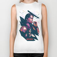 metal gear Biker Tanks featuring ESCAPE FROM METAL GEAR by mergedvisible