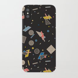 Memphis Inspired Pattern 10 iPhone Case