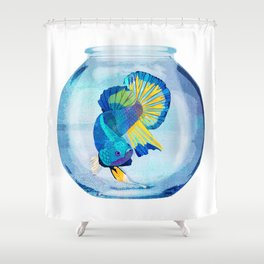Fish Prison Shower Curtain