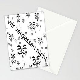 Wir vergessen nicht  (A7 B0108) Stationery Cards