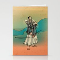 samurai Stationery Cards featuring Samurai by David Finley