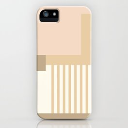Sol Abstract Geometric Print in Tan iPhone Case