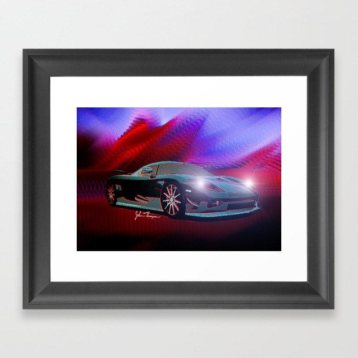 Koenigsegg Framed Art Print