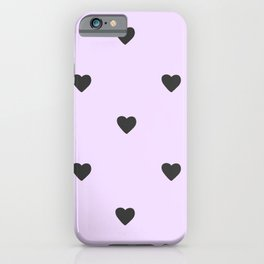Purple Pastel Hearts iPhone Case