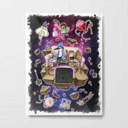 Regular Show lost in Universe Metal Print