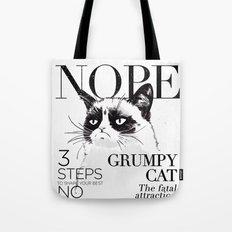 Grumpy the cat Tote Bag