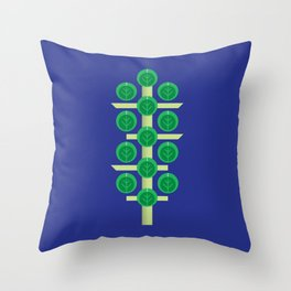 Vegetable: Brussels Sprout Blue Throw Pillow